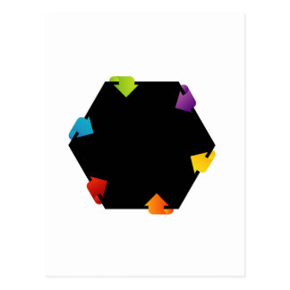 Hexagonal design element postcard