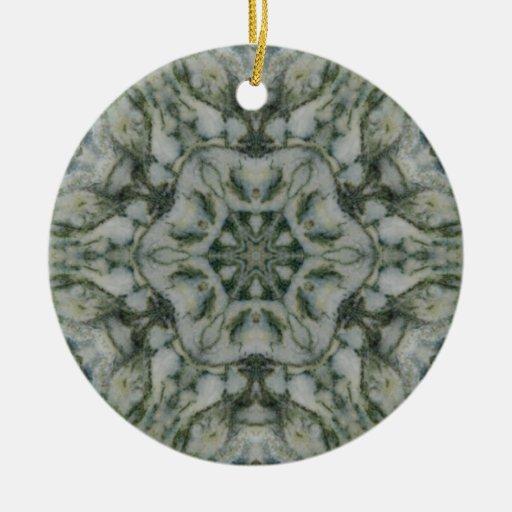 Hexágono de la ágata de musgo ornamente de reyes