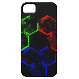 hexágono funda para iPhone 5 barely there