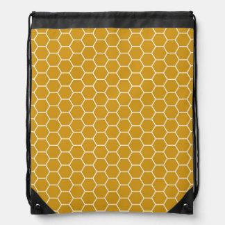 Hexágono geométrico amarillo amarillo oscuro Patte Mochilas