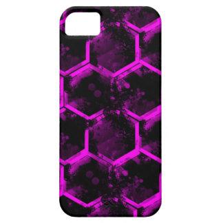 hexágono rosado funda para iPhone SE/5/5s
