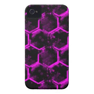 hexágono rosado iPhone 4 Case-Mate cárcasa