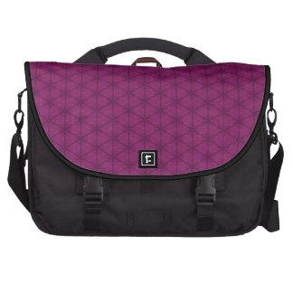 Hexágono rosado oscuro bolsas para portátil