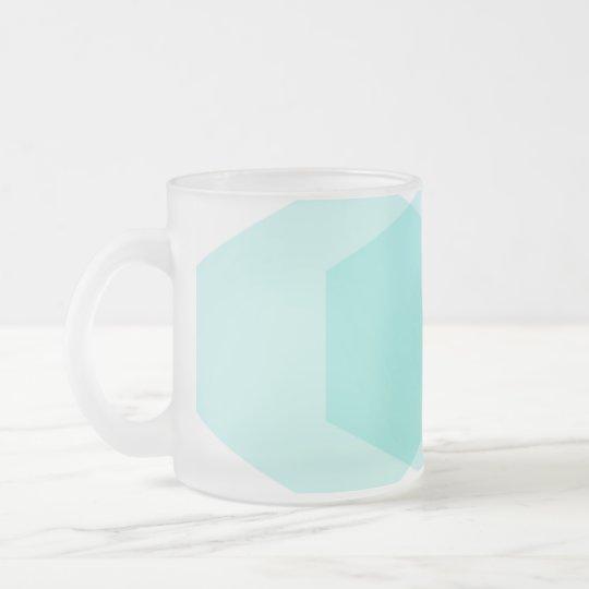 Hexágono taza de 06 vidrios esmerilados