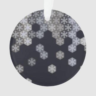 Hexágonos azules y grises helados del copo de