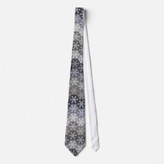 Hexágonos azules y grises helados del copo de corbatas personalizadas
