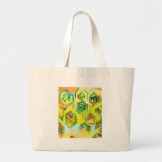 Hexágonos crudos verdosos (expresionismo geométric bolsas