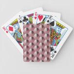Hexágonos de color de malva baraja cartas de poker