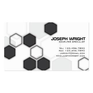 Hexágonos - negro tarjetas de visita