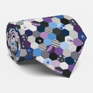 Hexagons and Bugs Tie