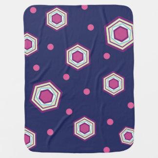 Hexagons Blue Baby Blanket