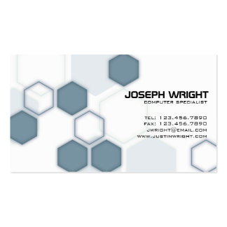 Hexagons - Blue Double-Sided Standard Business Cards (Pack Of 100)