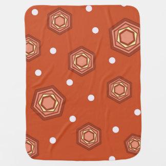 Hexagons Burnt Orange Baby Blanket