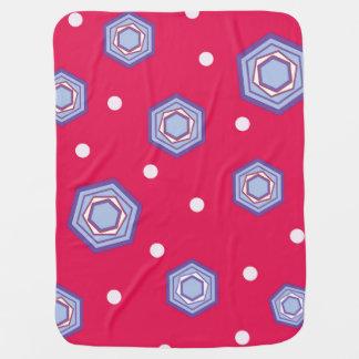Hexagons Crimson Pink Baby Blanket