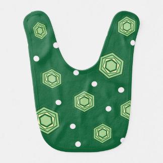 Hexagons Green Baby Bib