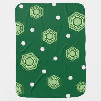 Hexagons Green Baby Blanket