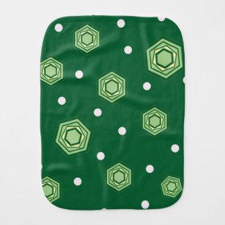 Hexagons Green Baby Burp Cloth
