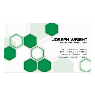 Hexagons - Green Double-Sided Standard Business Cards (Pack Of 100)