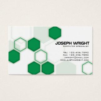 Hexagons - Green Business Card