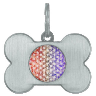 HEXAGONS, HEXAGRAMS & SWIRLS PET ID TAG