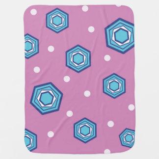 Hexagons Orchid Baby Blanket