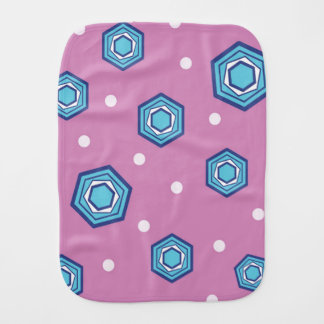 Hexagons Orchid Baby Burp Cloth