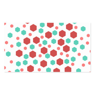 Hexagons Pattern. Double-Sided Standard Business Cards (Pack Of 100)