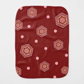 Hexagons Red Baby Burp Cloth