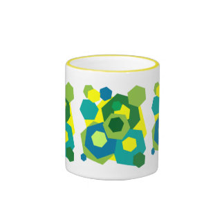 Hexagons Ringer Coffee Mug
