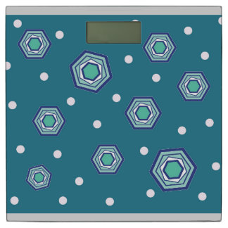 Hexagons Teal Weight Scale