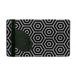 Hexagons texture geometric pattern iPad folio case