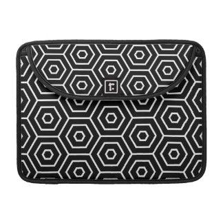 Hexagons texture geometric pattern sleeve for MacBooks