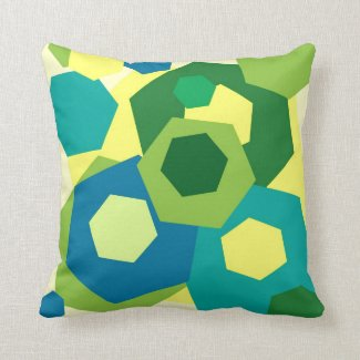 Hexagons Throw Pillow