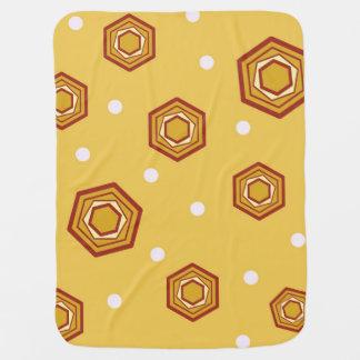 Hexagons Yellow Baby Blanket