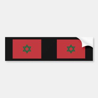 Hexagram de Marruecos, Marruecos Pegatina Para Auto
