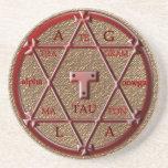 hexagram del solomon posavasos personalizados