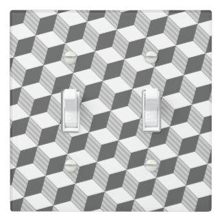 Hexagram Design - Monochrome Grey - Light Switch