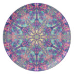 Hexagram doble de la placa de Panspermia Platos Para Fiestas