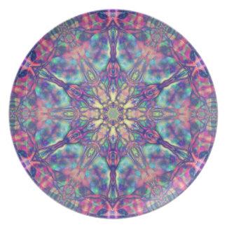 Hexagram doble de la placa de Panspermia Plato De Cena