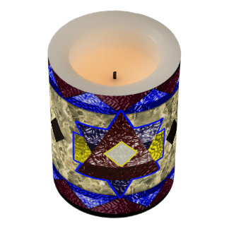 hexagram marble flameless candle