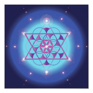 Hexagram sacred geometry symbol card