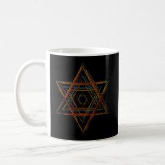 Hexagram sacred geometry symbol coffee mug
