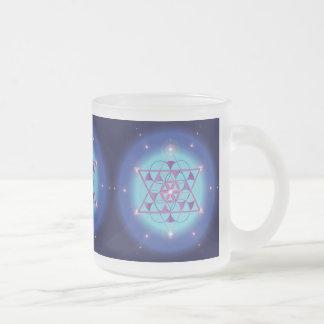 Hexagram Sacred geometry symbol Frosted Glass Coffee Mug