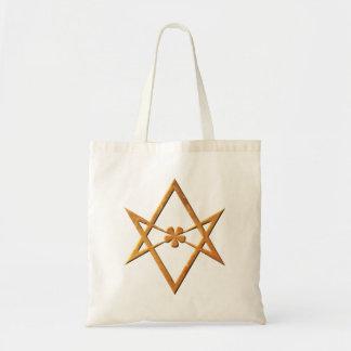 Hexagram Unicursal de oro - símbolo thelemic