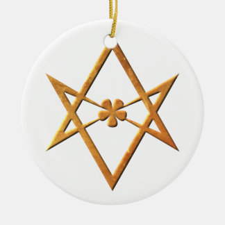 Hexagram Unicursal de oro - símbolo thelemic Ornamento De Navidad