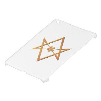 Hexagram Unicursal de oro - símbolo thelemic iPad Mini Carcasa