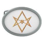 Hexagram Unicursal de oro - símbolo thelemic Hebilla Cinturón