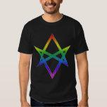 Hexagram Unicursal del orgullo gay Camisas