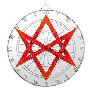 Hexagram Unicursal rojo 3D