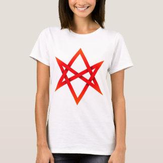 Hexagram Unicursal rojo 3D Playera